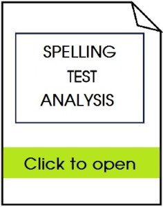 SpellingTest Analysis