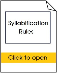 Syllabification