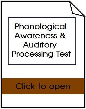 Phonological Awareness Test