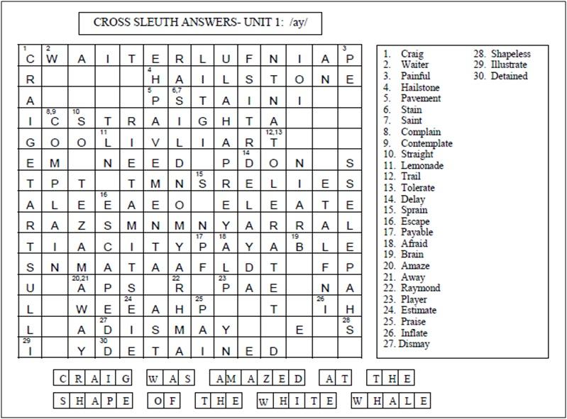 3B Cross sleuth answers